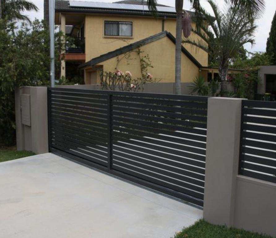 imagem de um portão de alumínio